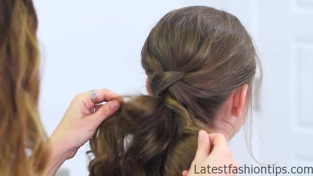 Criss Cross Ponytail Hairstyle _ Hairstyles for School_HD720 12