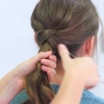 Criss Cross Ponytail Hairstyle _ Hairstyles for School_HD720 13