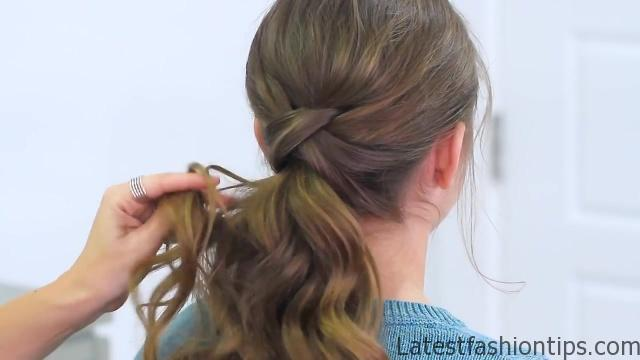 Criss Cross Ponytail Hairstyle _ Hairstyles for School_HD720 14
