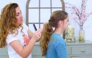 Criss Cross Ponytail Hairstyle _ Hairstyles for School_HD720 15