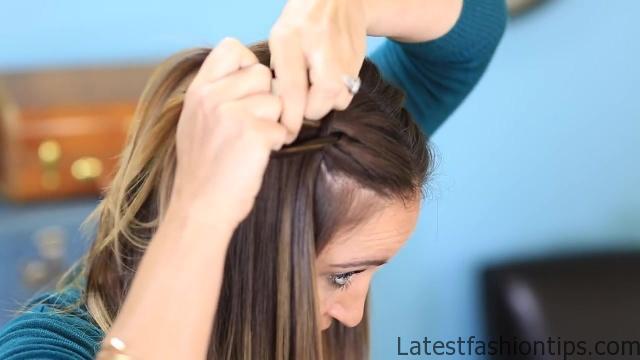 DIY 4-Strand Waterfall Braid _ Cute Girls Hairstyles_HD720 07