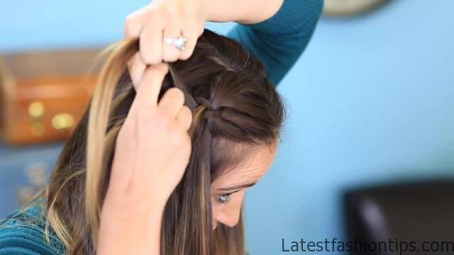 DIY 4-Strand Waterfall Braid _ Cute Girls Hairstyles_HD720 09