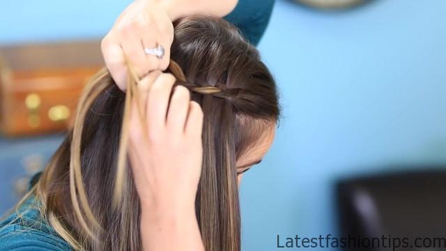 DIY 4-Strand Waterfall Braid _ Cute Girls Hairstyles_HD720 10