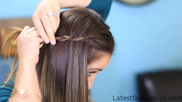 DIY 4-Strand Waterfall Braid _ Cute Girls Hairstyles_HD720 11