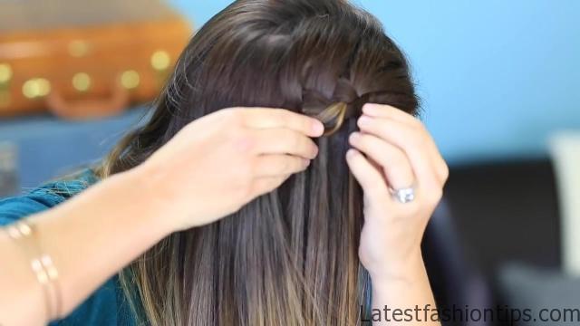 DIY 4-Strand Waterfall Braid _ Cute Girls Hairstyles_HD720 14