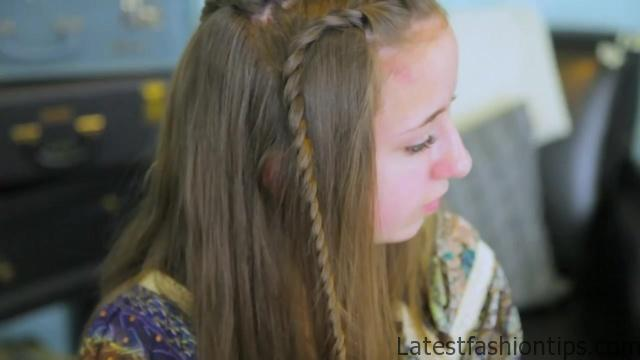 DIY Double Lace Twists _ Cute Girls Hairstyles_HD720 09