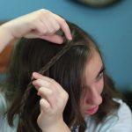 DIY Faux Waterfall Headband _ Cute Girls Hairstyles_HD720 11