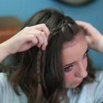 DIY Faux Waterfall Headband _ Cute Girls Hairstyles_HD720 13