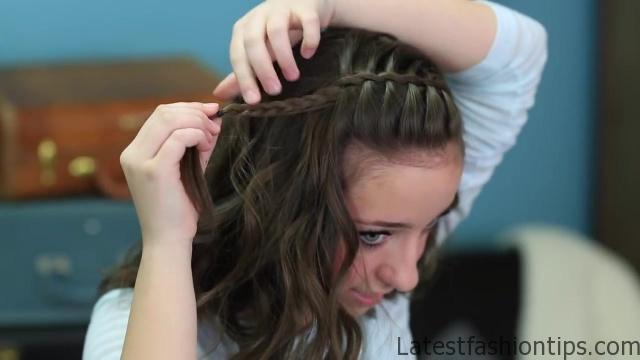 DIY Faux Waterfall Headband _ Cute Girls Hairstyles_HD720 14