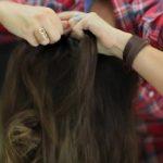 DIY French-Up High Bun _ Cute Hair Bun Ideas_HD720 07