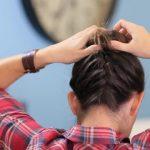 DIY French-Up High Bun _ Cute Hair Bun Ideas_HD720 18