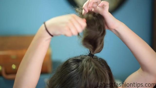 DIY Half-Up Bun _ Easy Hairstyles_HD720 08