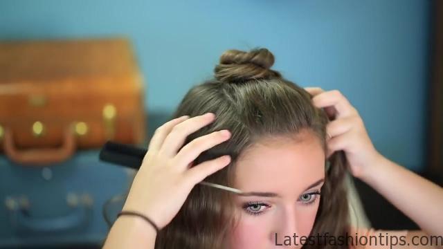 DIY Half-Up Bun _ Easy Hairstyles_HD720 10
