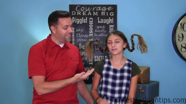 Dad Teaches How to Create Pippi Longstocking Braids_HD720 03