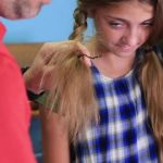 Dad Teaches How to Create Pippi Longstocking Braids_HD720 11