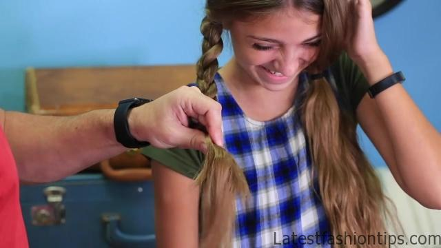 Dad Teaches How to Create Pippi Longstocking Braids_HD720 12