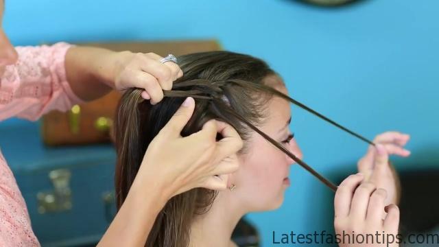 Diagonal French Loop Braid _ Braided Hairstyles_HD720 07