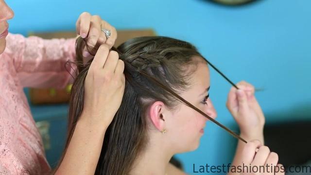 Diagonal French Loop Braid _ Braided Hairstyles_HD720 09