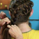 Diagonal French Loop Braid _ Braided Hairstyles_HD720 12