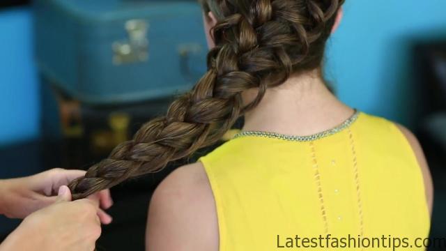 Diagonal French Loop Braid _ Braided Hairstyles_HD720 13