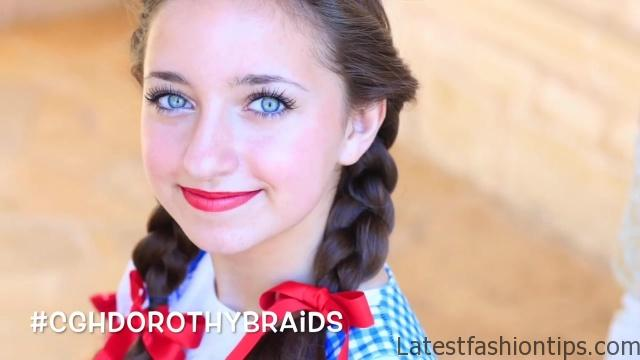 Dorothy Braids _ The Wizard of OZ _ Halloween Hairstyles_HD720 05