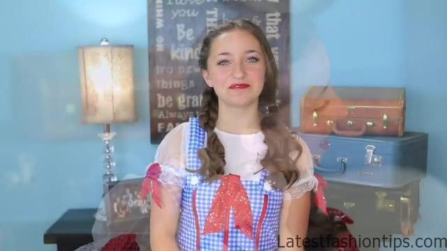 Dorothy Braids _ The Wizard of OZ _ Halloween Hairstyles_HD720 12