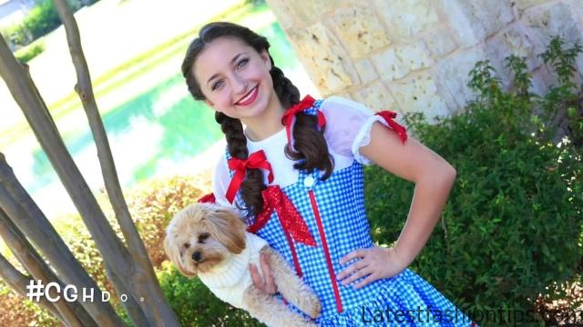 Dorothy Braids _ The Wizard of OZ _ Halloween Hairstyles_HD720 14