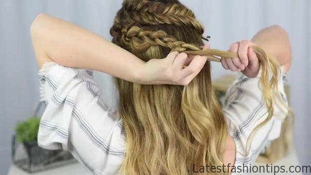 Double Dutch Side Braid _ DIY _ Back to School Hairstyle _ Cute Girls Hairstyles_HD720 10