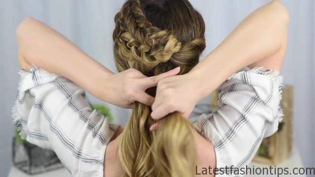 Double Dutch Side Braid _ DIY _ Back to School Hairstyle _ Cute Girls Hairstyles_HD720 12