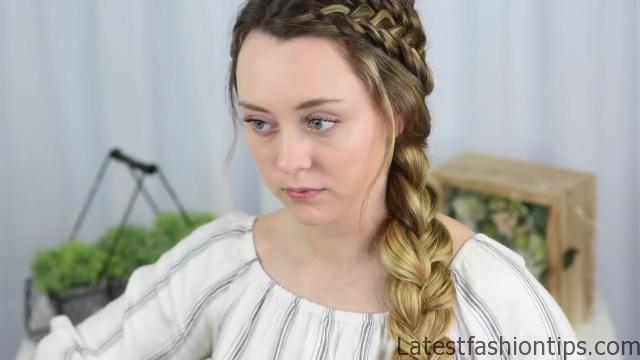 Double Dutch Side Braid _ DIY _ Back to School Hairstyle _ Cute Girls Hairstyles_HD720 13