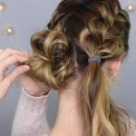 Double French Buns _ Cute Girls Hairstyles_HD720 10