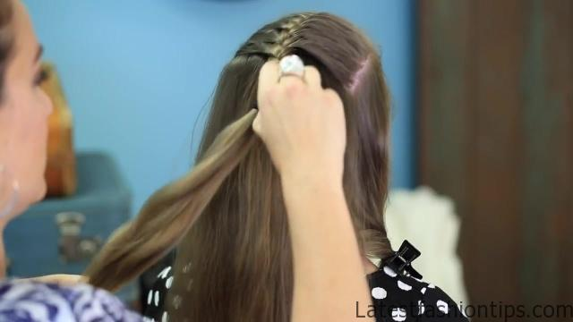 Double French Messy Bun _ Updo Hairstyles_HD720 11