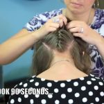 Double French Messy Bun _ Updo Hairstyles_HD720 13