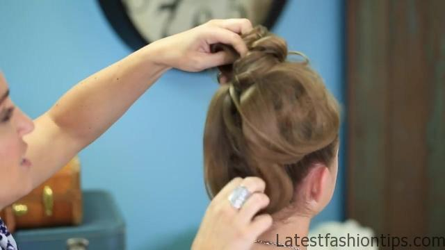 Double French Messy Bun _ Updo Hairstyles_HD720 19