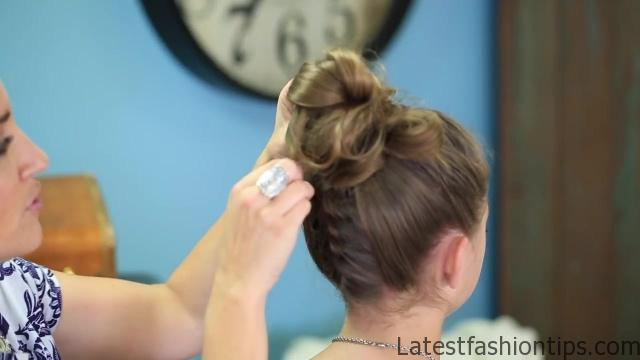 Double French Messy Bun _ Updo Hairstyles_HD720 20