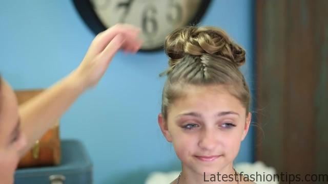 Double French Messy Bun _ Updo Hairstyles_HD720 21