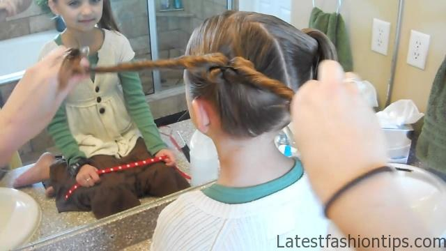 Double Heart Twists _ Valentine's Day _ Cute Girls Hairstyles_HD720 06