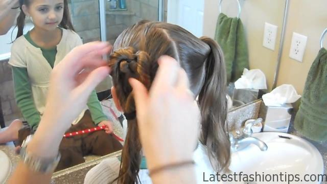 Double Heart Twists _ Valentine's Day _ Cute Girls Hairstyles_HD720 07