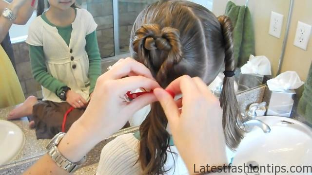 Double Heart Twists _ Valentine's Day _ Cute Girls Hairstyles_HD720 11