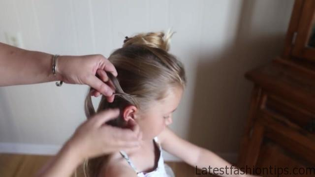 Double Lace Updo _ Homecoming Hairstyle _ Cute Girls Hairstyles_HD720 06