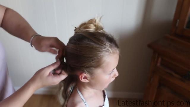 Double Lace Updo _ Homecoming Hairstyle _ Cute Girls Hairstyles_HD720 07