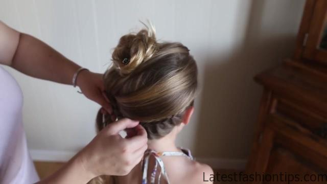 Double Lace Updo _ Homecoming Hairstyle _ Cute Girls Hairstyles_HD720 08