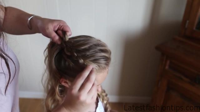 Double Lace Updo _ Homecoming Hairstyle _ Cute Girls Hairstyles_HD720 16