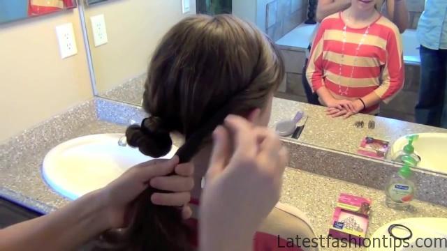 Double Twist Around Bun   Updos   Cute Girls Hairstyles HD720 09 Double Twist Around Bun Updos Hairstyles