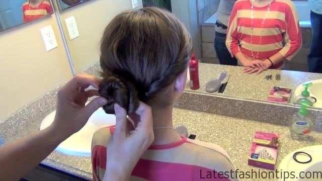 Double Twist Around Bun   Updos   Cute Girls Hairstyles HD720 10 Double Twist Around Bun Updos Hairstyles
