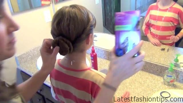 Double Twist Around Bun   Updos   Cute Girls Hairstyles HD720 11 Double Twist Around Bun Updos Hairstyles