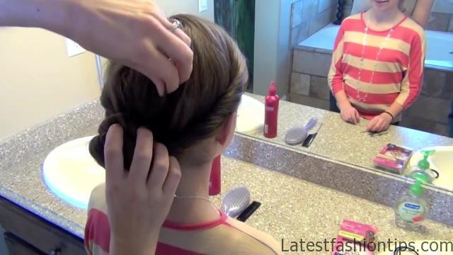 Double Twist Around Bun   Updos   Cute Girls Hairstyles HD720 14 Double Twist Around Bun Updos Hairstyles