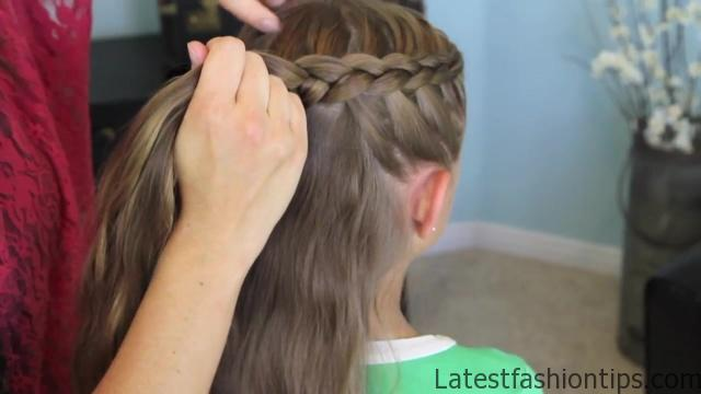 Dutch Flower Braid _ Updos _ Cute Girls Hairstyles_HD720 12