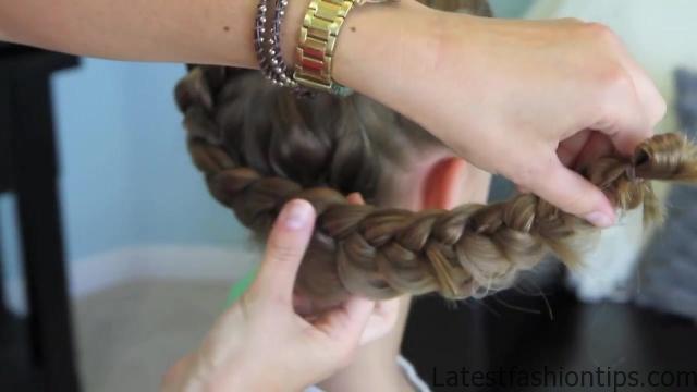 Dutch Flower Braid _ Updos _ Cute Girls Hairstyles_HD720 24