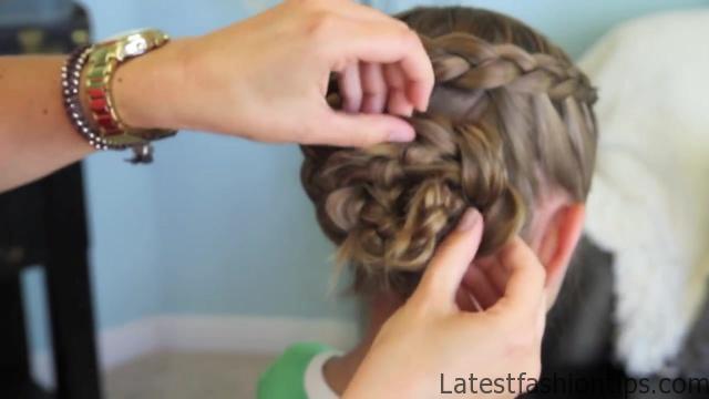 Dutch Flower Braid _ Updos _ Cute Girls Hairstyles_HD720 27